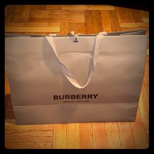 Burberry collectible shopping bag